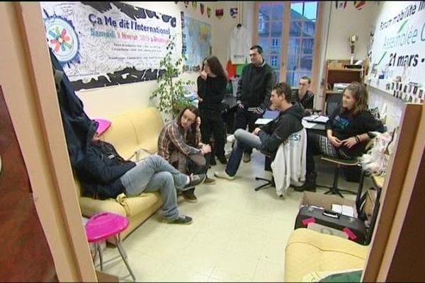 Les locaux de l'association ESN Erasmus student network à Besançon