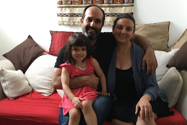 Bassem, Reem et leur fille Mirah.