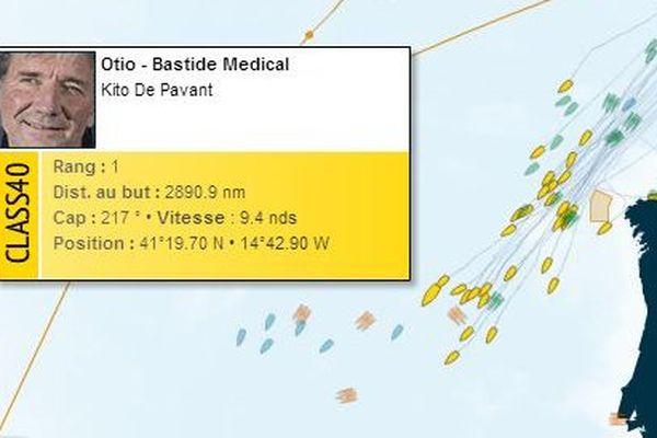 Kito de Pavant caracole en tête des Classe40 après trois jours de course