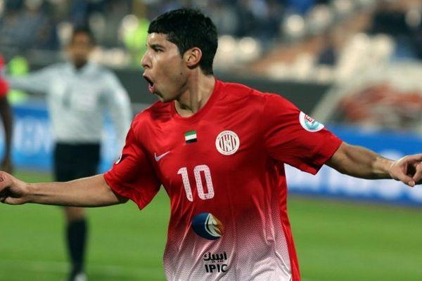 Abdelaziz Barrada qui vient de marquer contre une équipe iranienne le 18 mars dernier à Téhéran.