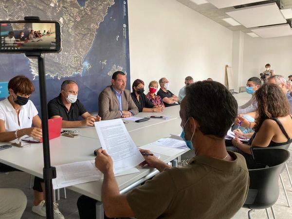 Conférence de presse de Jean-Charles Orsucci à Bonifacio, le 10 septembre 2021.