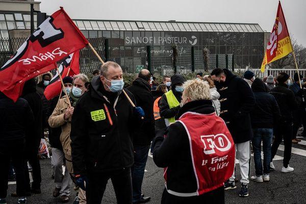 Appel à la grève chez Sanofi : rassemblement sur le site de Marcy-l'Etoile ce mardi 19 janvier 2021