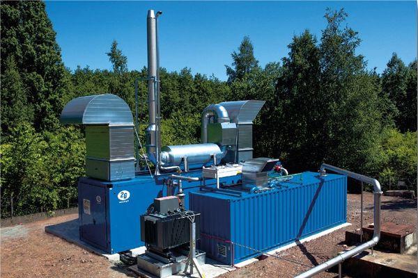 Plateforme Gazonor de récupération de gaz de mine. Hauts-de-France
