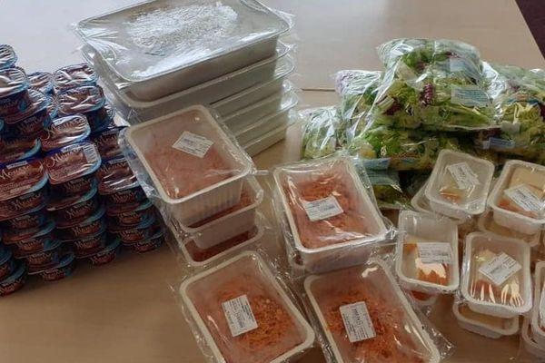 Les premiers repas destinés à des cantines de l'Oise ont été redistribués au Samu social lundi 9 mars