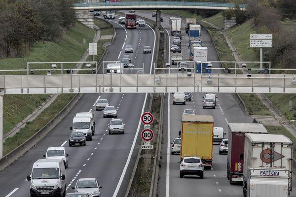 La circulation est interrompue en cette fin de journée du 19 mai 2020 sur l'A46, à hauteur de Mions, dans les deux sens, suite à un accident.