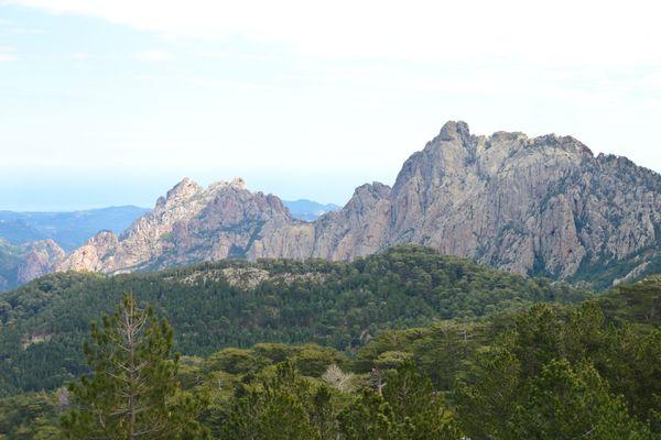 Les aiguilles de Bavella, en Corse-du-Sud.