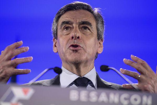 François Fillon à Besançon, le 9 mars 2017