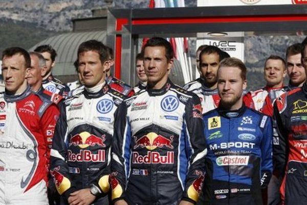 Kris Meeke, Sebastien Ogier,Julien Ingrassia, Mads Ostberg et Thierry Neuville.