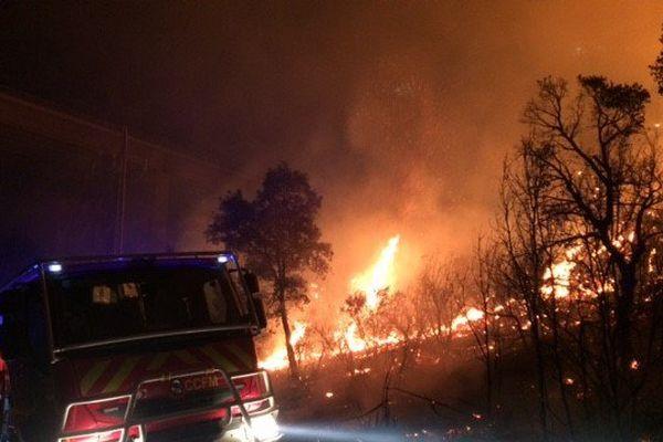 19 pompiers sont partis de Foix. Ils étaient sur le terrain au Boulou à 3h du matin.