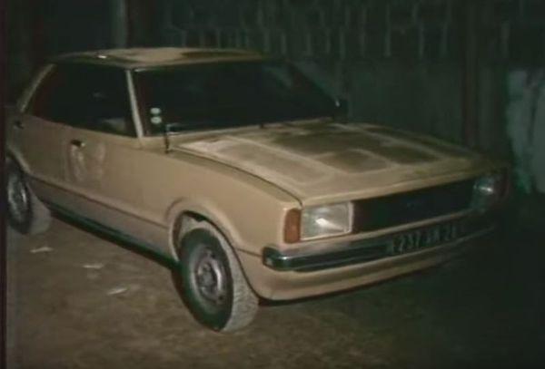 La voiture des trois hommes interceptés à Bastelica.