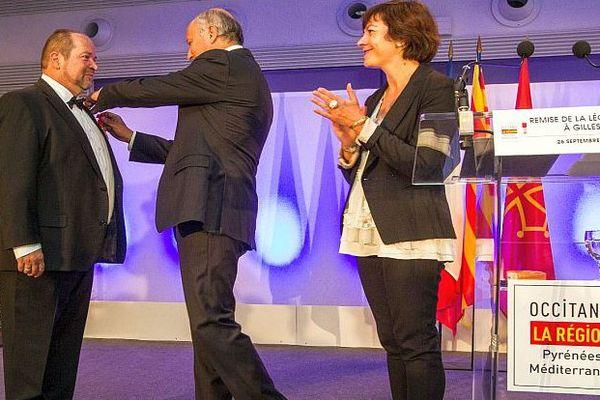 Toulouse - remise de Légion d'honneur à Gilles Goujon, chef audois - 26 septembre 2016.