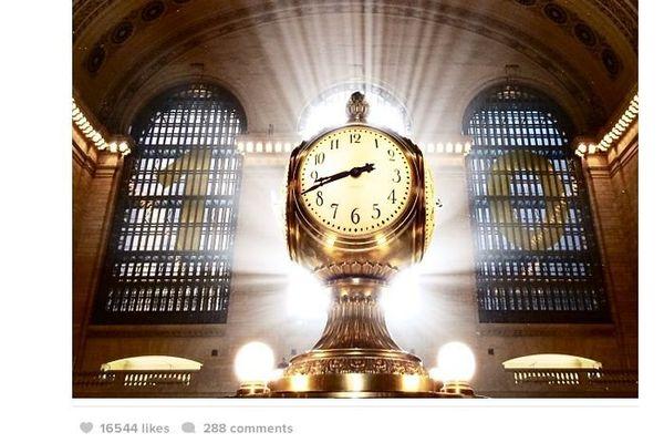 La fameuse horloge de Grand Central à Manhattan