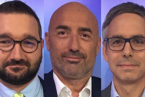 Damien Perrard (Divers Gauche), Jean-Claude Pardal (LREM) et Vincent Chriqui (LR-Union de la droite) sont les invités du débat du 2nd tour des Municipales 2020 à Bourgoin-Jallieu (Isère).