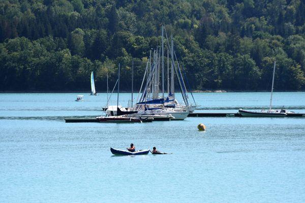 Le lac de Vouglans, été 2020.