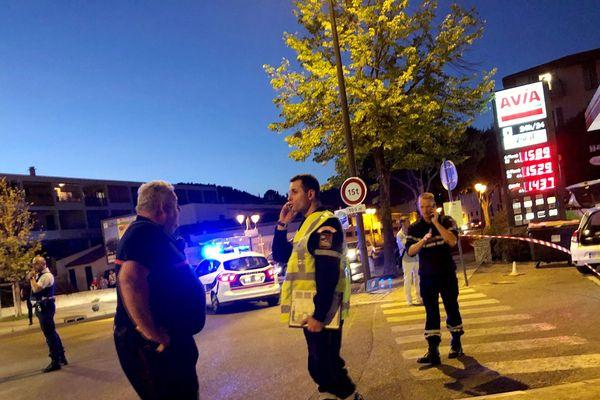 Le lieu de la fusillade à Ollioules dans le Var, le 28 juillet 2019.