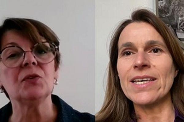 Eliane Romani (EELV / Le Pacte Grand Est) et Aurélie Filippetti (Génération.s / L'Appel Inédit)
