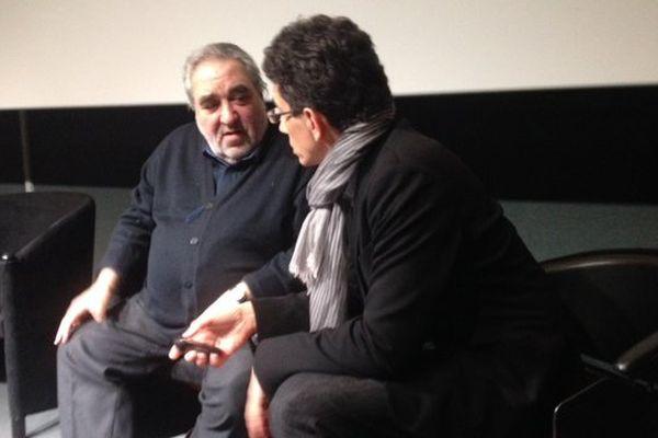 Souto de Moura (à gauche) et François Bouchaudy, du cabinet d'architecte travaillant avec lui localement.