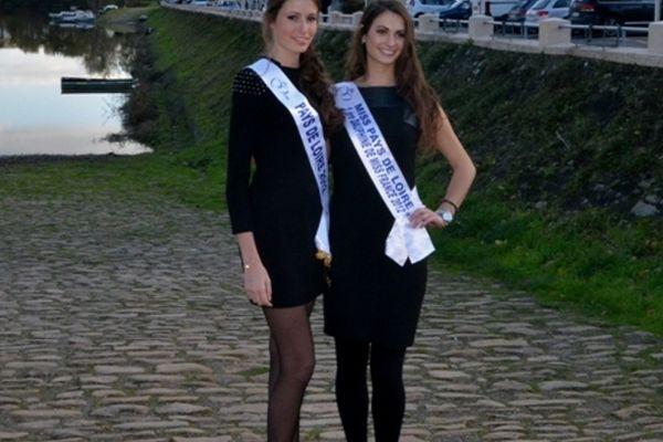 Mélinda  Paré (Miss Pays de Loire 2012) et Mathilde Couly (Miss Pays de Loire 2012)