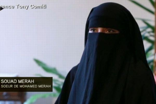 Souad Merah, telle qu'elle apparaît dans l'entretien accordé à Tony Comiti Productions pour I-télé