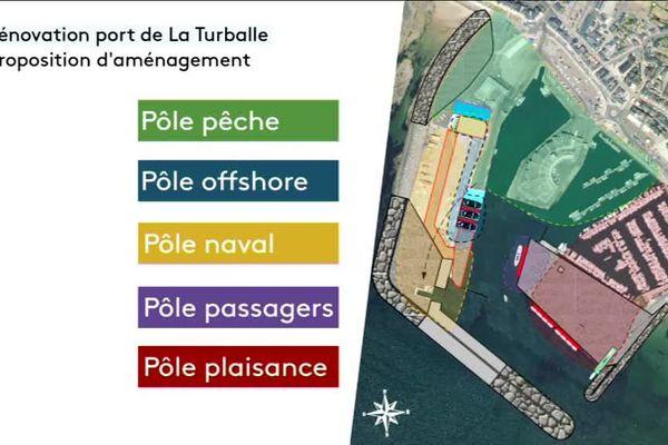 plan du futur port de la Turballe ( avant restitution des ateliers et des études techniques )
