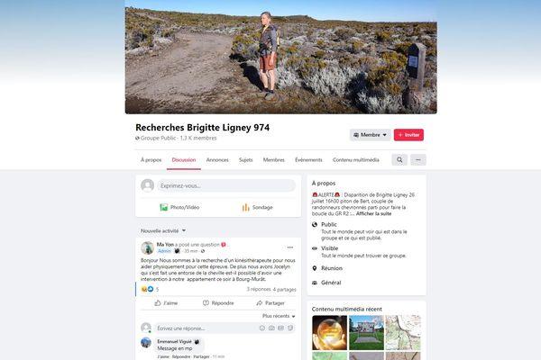 Sur ce groupe ouvert début août, les internautes aident la famille de Brigitte Ligney sur le terrain, ou en ligne