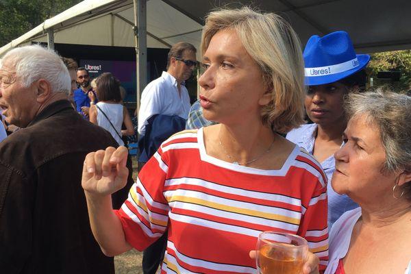 Valérie Pécresse, ce samedi 31 août à Brive.