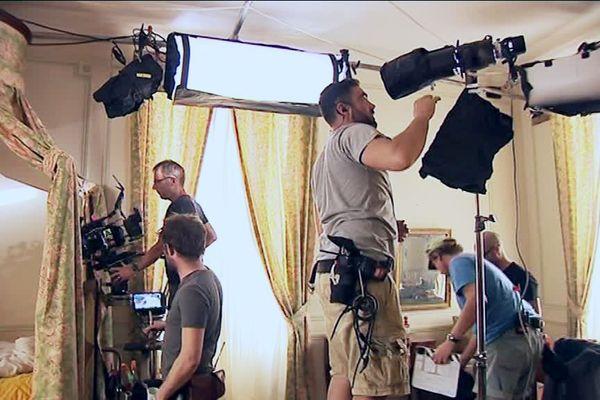 Le tournage de Victor Hugo, ennemi d'Etat au château de Garraube à Liorac (24)