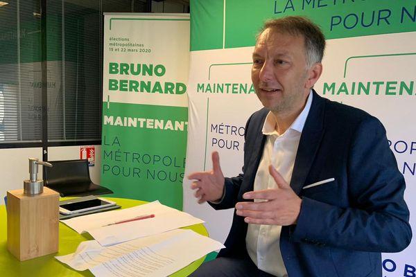 Bruno Bernard (EELV) en campagne pour la métropole de Lyon