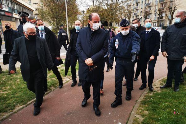 Le Premier ministre Jean Castex en visite dans l'Oise, le 5 avril 2021.