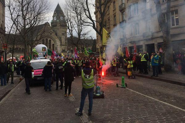 Des manifestations étaient organisées dans beaucoup de villes de Lorraine, comme ici à Metz.