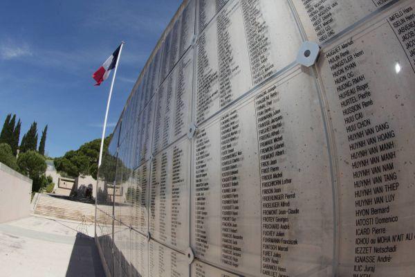 """Le Mémorial des guerres en Indochine est situé à Fréjus dans le Var, à l'emplacement de l'ancien camp militaire """"général Galliéni"""", à proximité d'une pagode édifiée en 1917 par des tirailleurs indochinois."""