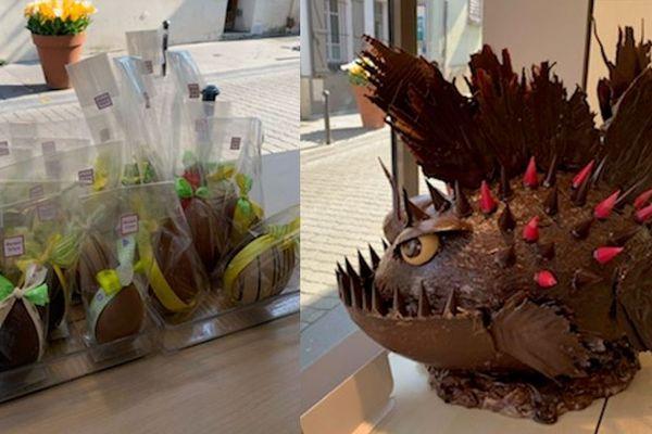 """La boulangerie""""la maison Dilain"""" restera ouverte tout le week-end de Pâques pour distribuer ses chocolats dont les ventes sont reversées aux hôpitaux de Paris et de France."""