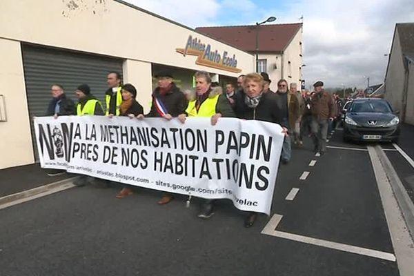 Les opposants au projet de méthaniseur à Athies-sous-Laon ont manifesté samedi 2 mars avant la décision du préfet.