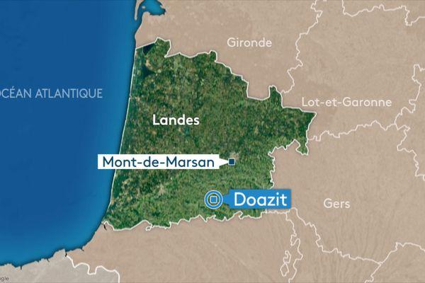 Un accident mortel est survenu à Doazit dans les Landes ce jeudi 26 août dans la matinée.