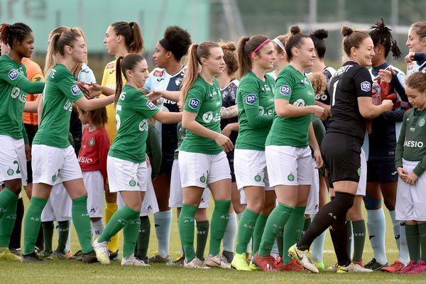 Saint-Étienne 08/12/2019 - L'équipe féminine de l'ASSE affronte Le Havre lors du match de championnat de division 2
