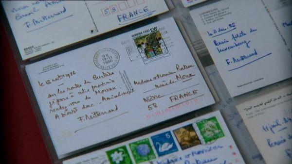 Les nombreuses cartes postales envoyées par François Mitterrand à ses amis du Morvan