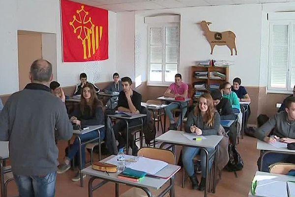 Marvejols (Lozère) - une classe d'occitan au lycée agricole Terre nouvelle - janvier 2018.