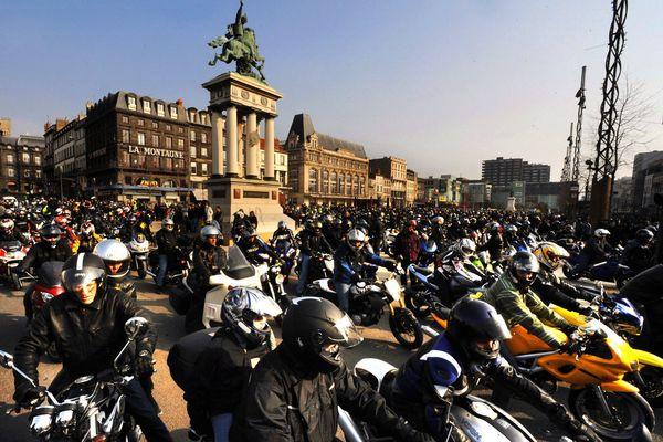 Les motards en colère du Puy-de-Dôme ont déjà manifesté à plusieurs reprises contre la réduction de la vitesse à 80km/h