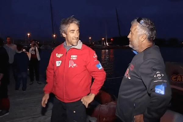 Gilles Lamiré et Yvan Bourgnon de retour à La Trinité-sur-Mer