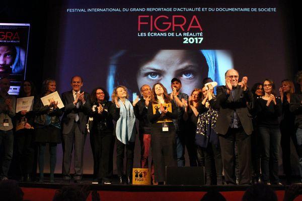Les lauréats du FIGRA 2017, ce samedi soir au Touquet.