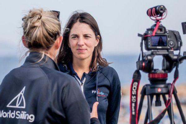 Charline Picon fait son retour avec l'élite internationale de la voile olympique à Hyéres