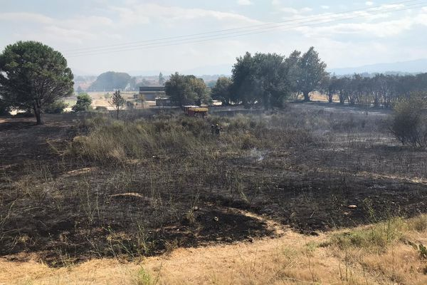 A Baho, dans les Pyrénées-Orientales, un violent incendie a brûlé près d'une vingtaine d'hectares - 19 juillet 2021