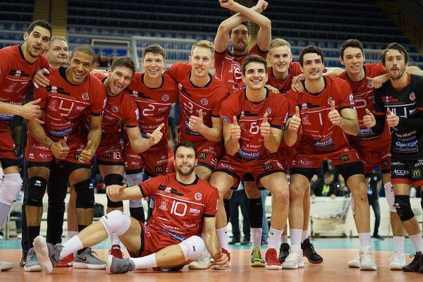Le CVB52 lors de sa première victoire aux playoffs de coupe d'Europe / Reims, le 14 mars 2018