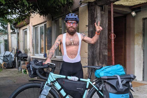Clément Grienenberger, avant le départ ce jeudi 23 septembre de son tour de France à vélo - 2021