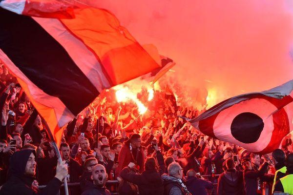 L'ambiance de folie au sein du Roazhon Park lors de ce 8e de finale de la Ligue Europa entre Rennes et Arsenal - 6 mars 2019