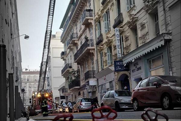 Les pompiers en intervention ce jeudi matin.