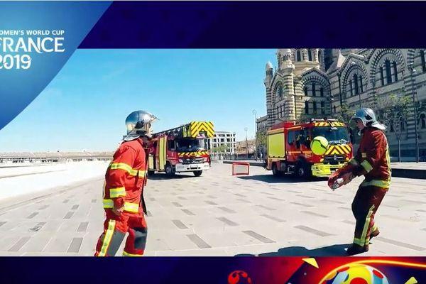 Mondial-2019 : le clip de soutien à l'équipe de France féminine du Bataillon de Marins-Pompiers de Marseille.