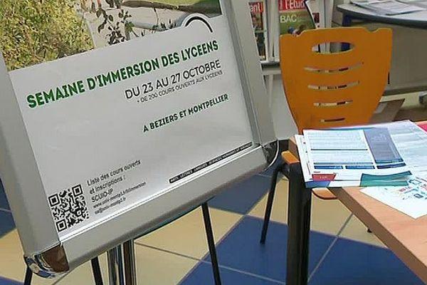 Montpellier - opération semaine d'immersion des lycéens - 23 octobre 2017.