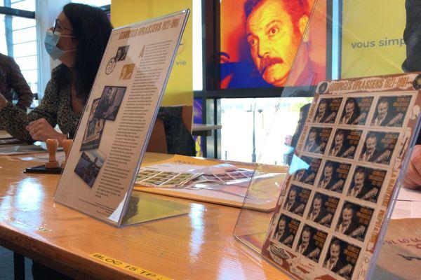 Le timbre commémore le 40e anniversaire de la mort du chanteur sétois Georges Brassens et le centenaire de sa naissance. 22 octobre 2021.