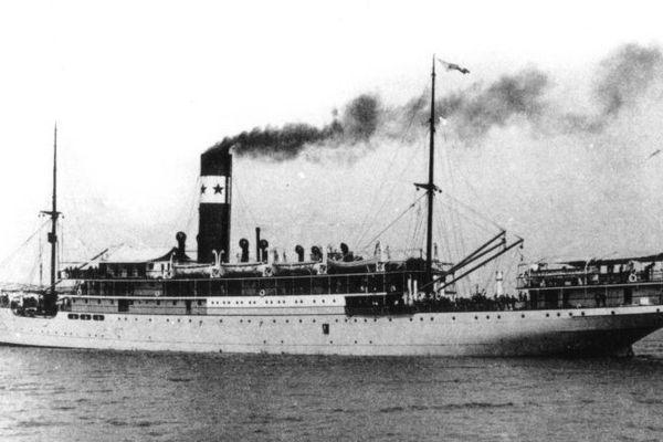 """Le paquebot """"Afrique"""" en 1918"""